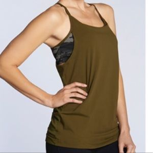 Fabletics | Olive and Camo Norwalk Tank sz M